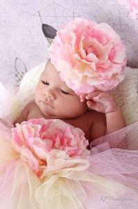 silk peony baby headband