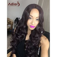 Fluffy Adiors Long Wavy Middle Parting Synthetic Wig #>=#>=#>=#>=#> Click on the pin to check out discount price, color, size, shipping, etc. Save and like it!