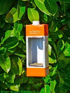 birdfeeder from tetrapack / mangeoires en récup' // Green & Zen Bubbles