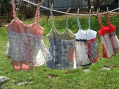 vintage hankie camisoles I am sure I can make these!
