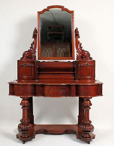 Victorian Dressing Tables With Mirrors C19th Antique Mahogany