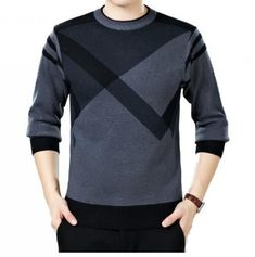 men sweater winter round neck knitted sweaters male casual autumn Cashmere pullovers mens Thick warm jumper plus size - Pullover Mens Winter Sweaters, Male Sweaters, Men Sweater, Cotton Sweater, Cashmere Pullover, Pullover Sweaters, Cardigans, Stylish Men, Men Casual