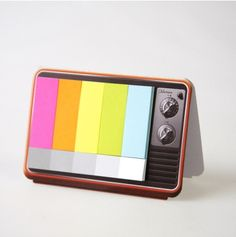 I'd love this; I have an affection for post-it notes --mini colour TV sticky notes