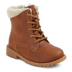 Toddler Girls' Mikaela Sherpa Lace Up Boots Cat & Jack™