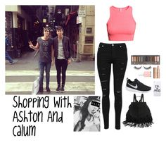 """""""Shopping With Ashton And Calum"""" by shay-1d ❤ liked on Polyvore featuring H&M, LAUREN MOSHI, NIKE, Rimini, Urban Decay, Charlotte Tilbury, Essie, shopping, calumhood and ashtonirwin"""