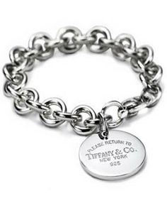 Tiffany & Co Outlet Round Tag Bracelet