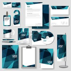 Illustration of Technology corporate identity template Stationery design set in vector format vector art, clipart and stock vectors. Design Corporativo, Layout Design, Creative Design, Letterhead Design, Brochure Design, Branding Design, Corporate Identity Design, Identity Branding, Visual Identity
