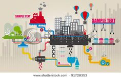 Stock Vector Illustration:  Set of city infographics, City Information Graphics