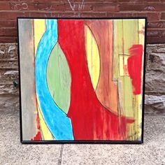 Large #Abstract #Modernist #Painting By #RRuder . #ArtistSigned . Info @ link below.