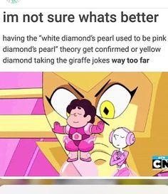I'm not actually calling her giraffe diamond anymore. I'm calling her SNAKE diamond Steven Universe Theories, Steven Universe Funny, Universe Art, Steven Univese, Lapidot, Thing 1, Cartoon Network, Nerdy, Funny Memes