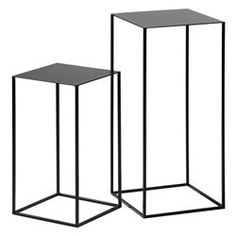 Set of 2 Romy Lacquered Metal Side Tables AM. Set of 2 Romy Lacquered Metal Stands. With clean, contemporary lines these will be at home in any roomEpoxy coated metal. Pedestal Side Table, Sofa Side Table, Side Tables, Metal Accent Table, Metal End Tables, Accent Tables, Small Furniture, Metal Furniture, Classic Furniture