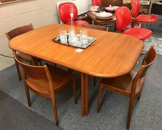 "TEEGEEBEE midcentury on Instagram: ""💥CHAIRS HAVE SOLD💥 One dining table out...and another dining table in! Charming Danish Modern teak dining table with interior pop-up leaf.…"" Table, Danish Modern, Teak Dining Table, Teak, Interior, Modern, Home Decor, Dining, Dining Table"