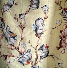 1950's Pussy Willow Fabric / Graphic Arts - Juxtapost