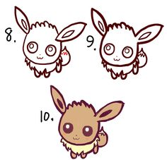 learn how to draw cute chibi baby eevee in easy steps