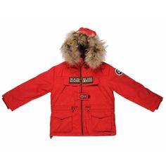 2bfc755b12c L équipement spécial sports d hiver pour les filles   Tenues sports d hiver  enfants   parka rouge zippée K Skidoo Open Napapijri - Maman Plurielles.fr