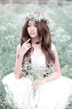 faery, fairy, nymph, head wreath, flower crown