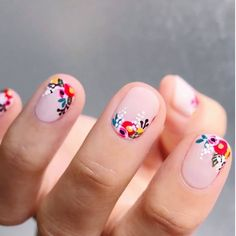 Nail art is one of many ways to boost your style. Try something different for each of your nails will surprise you. You do not have to use acrylic nail designs to have nail art on them. Here are several nail art ideas you need in spring! Manicure Y Pedicure, Manicure Ideas, Pedicure Designs, Pedicure Colors, Manicure For Short Nails, Nail Design For Short Nails, Summer Shellac Nails, Pin Up Nails, Mani Pedi