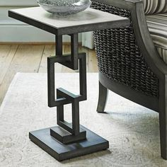 The unique look of the Lexington Home Brands Oyster Bay Deerwood Side Table is sure to be a standout piece. The mahogany top in a distressed, light-wash. Welded Furniture, Iron Furniture, Steel Furniture, Home Decor Furniture, Industrial Furniture, Furniture Design, Industrial Farmhouse, Industrial Cafe, Pallet Furniture
