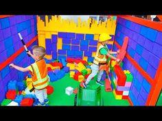 Vlad, Nikita and Mom Kids Activities at Indoor Playground Indoor Playground, Drawing For Kids, Activities For Kids, Mom, Children, Drawings, Painting, Youtube, Gifts