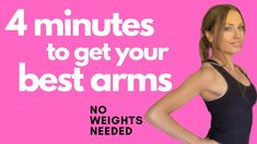 Arm Workout For Women no weights needed. This free home fitness arm workout video is designed with 8 exercises that ton. Arm Workout Videos, Arm Workout For Beginners, Arm Workouts At Home, At Home Workouts For Women, At Home Workout Plan, Easy Workouts, Weight Workouts, Arm Workout Women No Equipment, Arm Workout Women With Weights