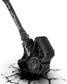 »then morgoth hurled aloft grond, the hammer of the underworld, and swung it down like a bolt of thunder