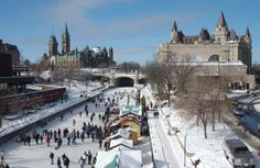 BEEN - Ottawa, Ontario, Canada (Canada's Capital City). Winterlude - Skating on the Rideau Canal