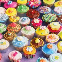 Cup Cakes: I had a birthday card with this picture on it and I kept it in my drawer at work because it made me happy just to look at it, but funnily enough not hungry as I'm not a fan of sweet cakes.