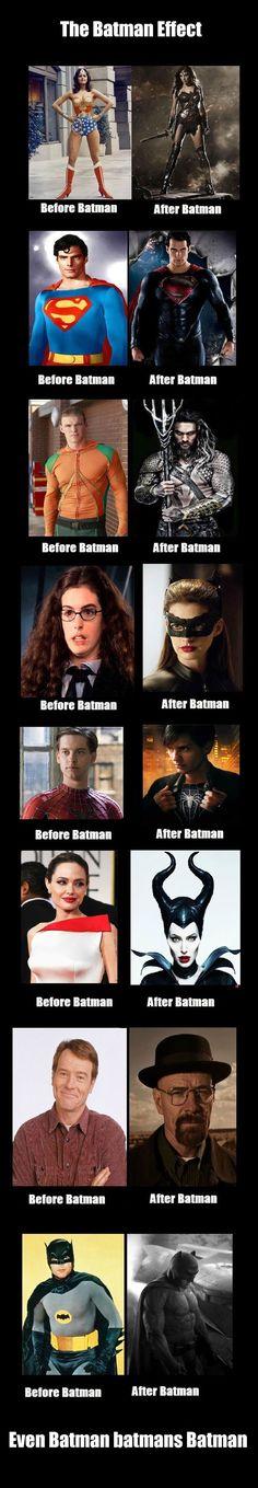 """¿Quien dice que las personas no cambian cuando ven a un héroe? este es """"The Batman Effect""""."""