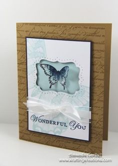 Stamps: Swallowtail, Papillion Potpourri, Loving Thoughts Ink: Soft Suede, Soft Sky, Stazon, Night of Navy Accessories: Stampin' Dimension...