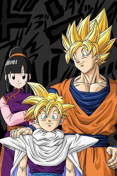 Chi-Chi, Super Saiyan Gohan and Goku