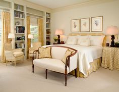 Inviting Master Bedroom - Beautiful, but for me I'd lose the seat at the end of the bed.