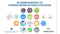 AYUDA PARA MAESTROS: 18 herramientas TIC imprescindibles para docentes Jean Piaget, Chart, Learning, Apps, Internet, Educational Software, Studying, App, Teaching