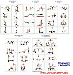 moves for duos, trios, 2 pairs and ACROSPORT planches… Elementary Physical Education, Health And Physical Education, Yoga Games, Pe Games, Pe Activities, Family Yoga, Pe Ideas, Acrobatic Gymnastics, Cheer Stunts
