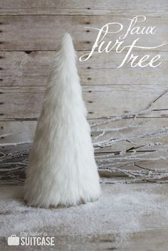 LOVE THIS! Make a Faux Fur Tree featured on Tatertots + Jello @Jennifer Hadfield #rusticglamchristmas