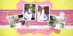 Girly Girl Be Young Additions #Scrapbook Layout Project Idea from Creative Memories  http://www.creativememories.com