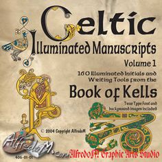 Celtic Illuminated Manuscripts: The Book of Kells: Initials, Celtic Lettering and TTF Fonts | Collection on CD