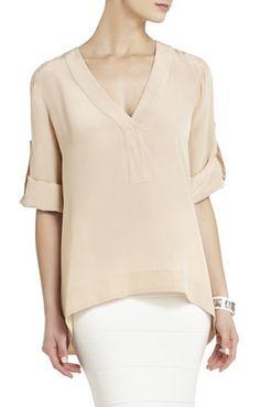 Kellyanne Long-Sleeve Top | BCBG