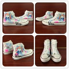 cheap for discount 1b3ed d8759 US  75.0  Aliexpress.com   Buy Wen White Hand Painted Shoes Design Custom  Skull Colorful Flowers Floral High Top Canvas Sneakers Lace Up for Men  Women s ...