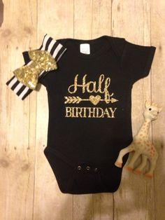 Check out this listing on Kidizen: Half Birthday Glitter Onesie  via @kidizen #shopkidizen