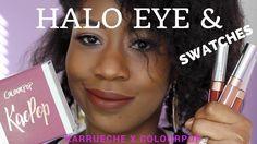 KAEPOP Ultra Matte Lips Swatches & Halo Eyes GRWM   Karrueche x Colourpo...