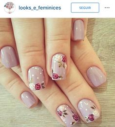 Decent Looking Flower Nail Art Designs - Best Nail Art Classy Nail Designs, Nail Art Designs, Nails Design, Design Art, Classy Nails, Trendy Nails, Do It Yourself Nails, French Pedicure, Floral Nail Art