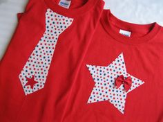 4th of July Youth TShirt Tie USA map or Star by ShopMelissa, $16.00
