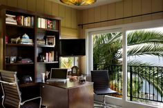 mediterranean home office by Tracy Murdock Allied ASID