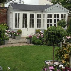 Summerhouse June 2014 Garden Studio, Cottage Living, Envy, Bliss, Shed, June, Backyard, Windows, Plants