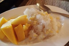 Mango with sticky rice made @ Thai cooking school