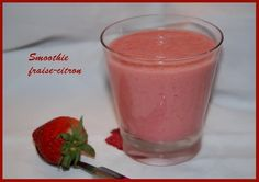 Smoothie fraise-citron