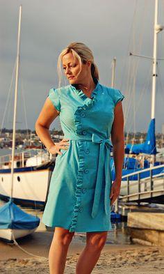 ruffle dress remixed from McCalls 6279