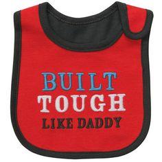 Bib.. I LOVE it. I do have one tough man! <3 JTW