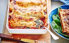 Easy hand-rolled spinach and ricotta cannelloni