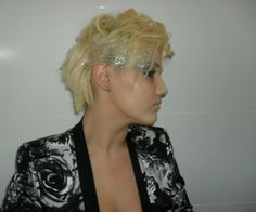 Fun glittered hair that you can achieve yourself for parties or costumes.